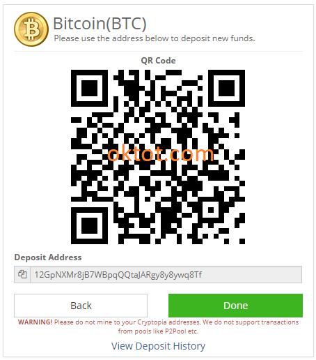 cum se depună bitcoins în cryptopia